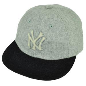 MLB American Needle New York Yankees Wool Belt Buckle Flat Bill Relaxed Hat Cap