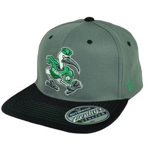 NCAA Zephyr Miami Hurricanes Nebulous Flex Fit Medium Large Flat Bill Hat Cap