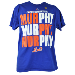 MLB New York Mets Post Season 2015 Daniel Murphy Tshirt Tee Majestic Mens Blue