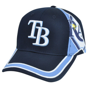 MLB Fan Favorite Tampa Bay Rays Ellison Baseball Velcro Adjustable Hat Cap