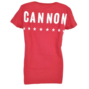 The Cannon Shannon Briggs T-shirt Tee Red Distressed Lets Go Champ Womens