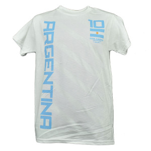 Copa America Centenario USA 2016 Argentina Tshirt Tee Soccer Futbol Game White