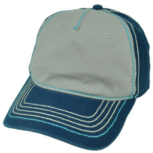 American Needle Blue Gray Relaxed Hat Cap Blank Plain Solid Color Sun Buckle
