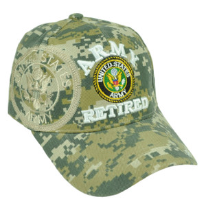 Army Retired Digital Camouflage Camo Velcro United States Military US Hat Cap