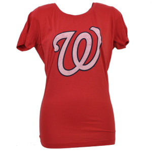 MLB Washington Senators Womens Medium Tshirt Tee Ladies Red Short Sleeve Sports