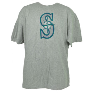 MLB Seattle Mariners Gray Tshirt Tee 2XLarge Short Sleeve Crew Neck XXL Mens