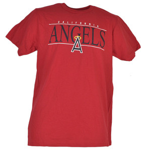 MLB Los Angeles Angels Medium Red Tshirt Tee Crew Neck Short Sleeve Mens Adult