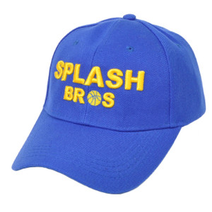NBA Golden State Warriors Splash Bros Brother Velcro Blue Adjustable Hat Cap
