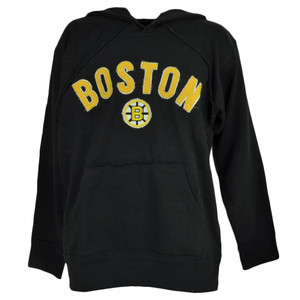 NHL Boston Bruins Hoodie Hood Black Sweater Pullover Mens Adult Winter Sports
