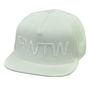 RWTW Logo Roll With The Winners Snapback Flat Bill White Hat Cap Brand Flag