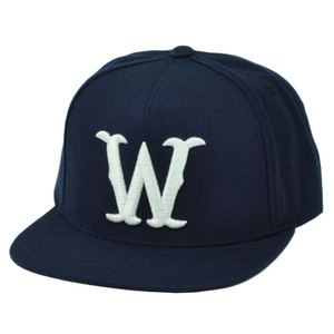 RWTW Logo Roll With The Winners Snapback Flat Bill Navy Blue Hat Cap Brand Wining
