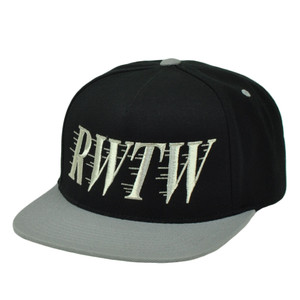 RWTW Logo Roll With The Winners Snapback Flat Bill Black Hat Cap Brand Wining