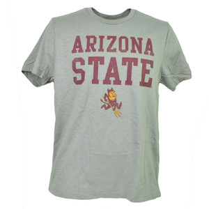 NCAA Arizona Sun Devils Tshirt Tee Short Sleeve Gray Crew Neck Mens Adult Sports