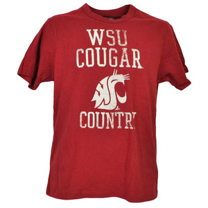 NCAA Washington State Cougars WSU Burgundy Tshirt Tee Mens Cougar Country Nation