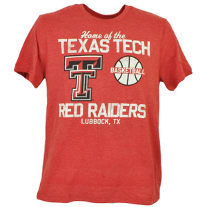 NCAA Texas Tech Red Raiders Basketball Tshirt Tee Short Sleeve Mens Lubbock