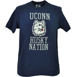 NCAA UConn Huskies Connecticut Blue Short Sleeve Mens Tshirt Tee Husky Nation