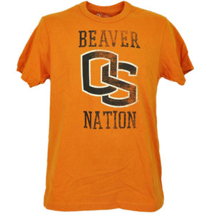 NCAA Oregon State Beavers Orange Short Sleeve Tshirt Tee Mens Beaver Nation