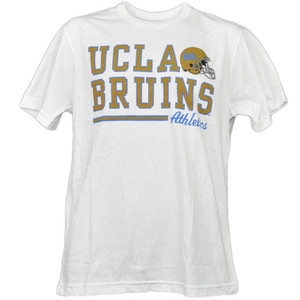 NCAA UCLA California Bruins White Underline Logo Tshirt Tee Mens Short Sleeve