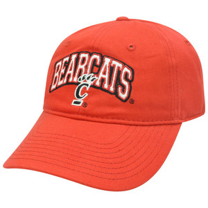 Cincinnati Bearcats Garment Wash Slouched Red Sun Buckle Adjustable NCAA Hat Cap