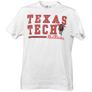 NCAA Texas Tech Red Raiders White Underline Logo Mens Tshirt Tee Short Sleeve
