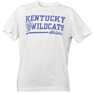 NCAA Kentucky Wildcats White Underline Logo Mens Tshirt Tee Short Sleeve Sports