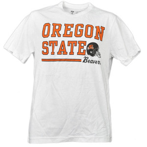 NCAA Oregon State Beavers White Underline Logo Mens Tshirt Tee Short Sleeve