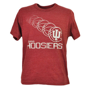 NCAA Indiana Hoosiers Basketball Burgundy Mens Tshirt Tee Short Sleeve Crew Neck