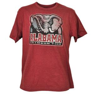 NCAA Alabama Crimson Tide Distressed Logo Mens Adult Distressed Tshirt Tee Sport