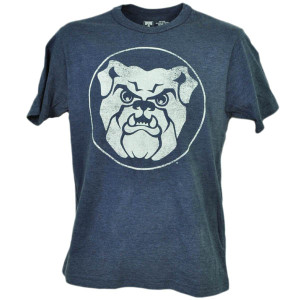 NCAA Butler Bulldogs Distressed Logo Navy Blue Tshirt Tee Mens Short Sleeve