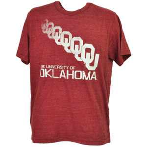 NCAA Oklahoma Sooner Repeat Logo Burgundy Tshirt Tee Mens Short Sleeve Sports