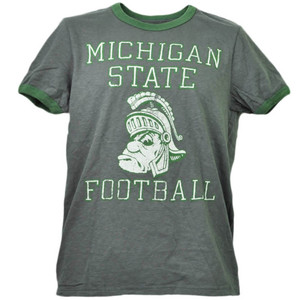 NCAA Michigan State Spartans Football Gray Tshirt Tee Mens Short Sleeve Adult