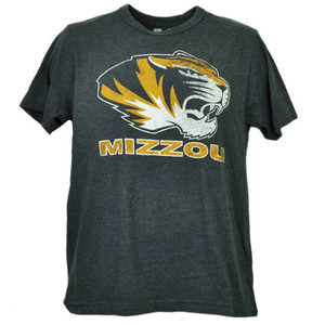 NCAA Missouri Tigers Mizzou Gray Tshirt Tee Mens Short Sleeve Crew Neck Sports