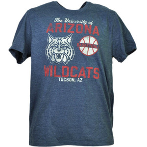 NCAA Arizona Wildcats Basketball Navy Tshirt Tee Mens Short Sleeve Tucson AZ
