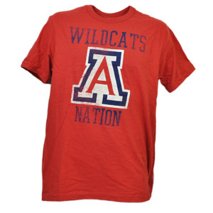 NCAA Arizona Wildcats Nations Red Tshirt Tee Mens Adult Short Sleeve Sports