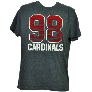 NCAA Louisville Cardinals Felt 98 Cards Short Sleeve Gray Tshirt Tee Mens Adult