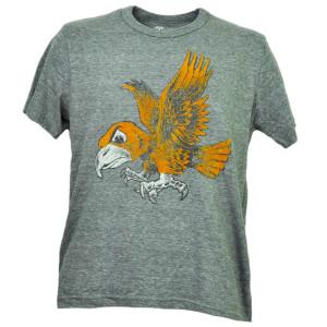 NCAA Iowa Hawkeyes Felt Logo Mens Gray Tshirt Tee Short Sleeve Crew Adult Sports