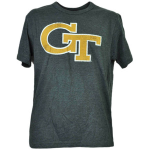 NCAA Georgia Tech Yellow Jackets Charcoal Tshirt Tee Mens Adult Short Sleeve