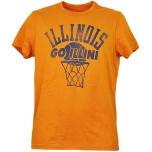 NCAA Illinois Fighting Illini Orange Tshirt Tee Mens Orange Short Sleeve Sports