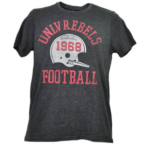 NCAA UNLV Nevada Las Vegas Rebels Helmet Football Tshirt Tee Mens Short Sleeve
