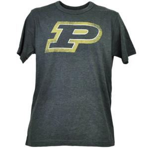 NCAA Purdue Boilermakers Distressed Logo Tshirt Tee Mens Short Sleeve Crew Neck