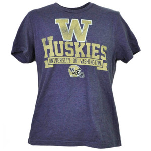 NCAA Washington Huskies Short Sleeve Crew Neck Purple Mens Tshirt Tee Sports
