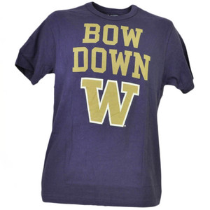 NCAA Washington Huskies Bow Down Short Sleeve Purple Tshirt Tee Mens Sports