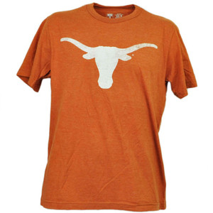 NCAA Texas Longhorns Horns Tshirt Tee Distressed Logo Short Sleeve Mens Sports