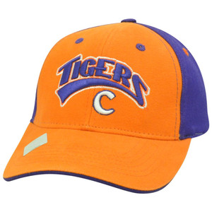 Clemson Tiger NCAA Two Tone Curved Bill Arch Orange Adjustable Velcro Hat Cap