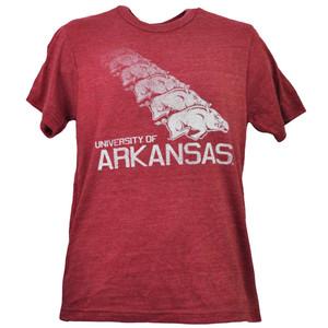NCAA New Mexico Lobos Repeat Logo Tshirt Tee Mens Adult Short Sleeve Red Sports