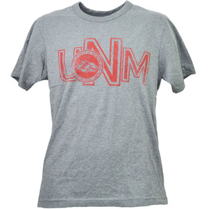 NCAA New Mexico Lobos UNM Gray Tshirt Tee Short Sleeve Mens Adult Crew Neck