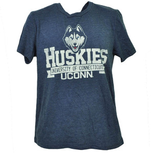 NCAA UConn Huskies Connecticut Tshirt Tee Mens Adult Medium Navy Blue Sports
