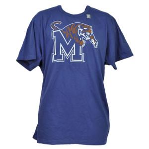 NCAA Memphis Tigers Blue Tshirt Tee 2XLarge Mens Short Sleeve Crew Neck Sports