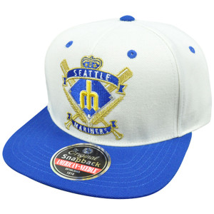 MLB Milwaukee Brewers Spirit Crest Snapback Wool Blend American Needle Hat Cap