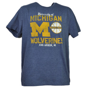 NCAA Michigan Wolverines Large Tshirt Tee Mens Short Sleeve Crew Neck Sports